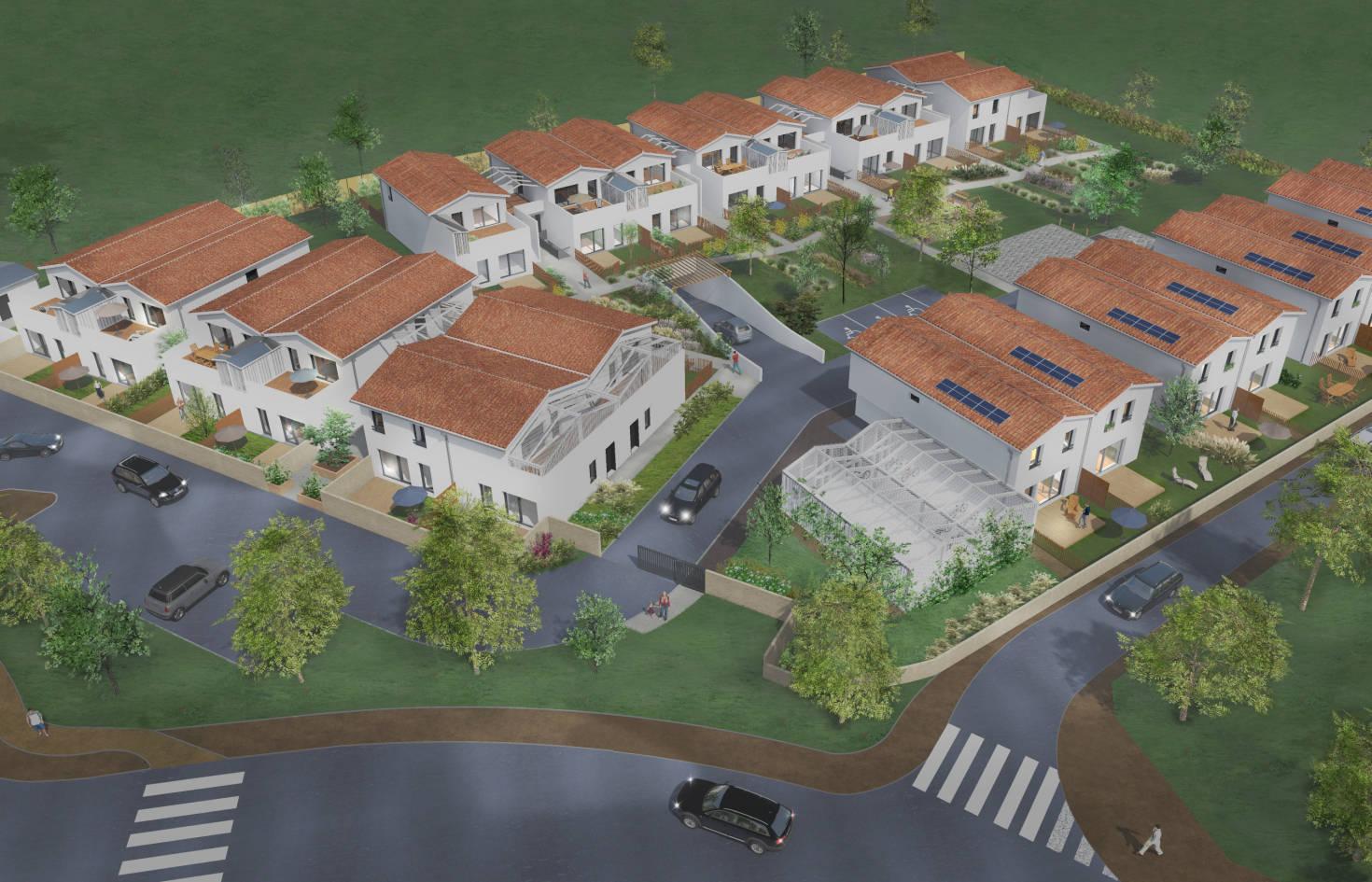 Programme immobilier neuf Saint-Médard-en-Jalles coeur quartier Corbiac
